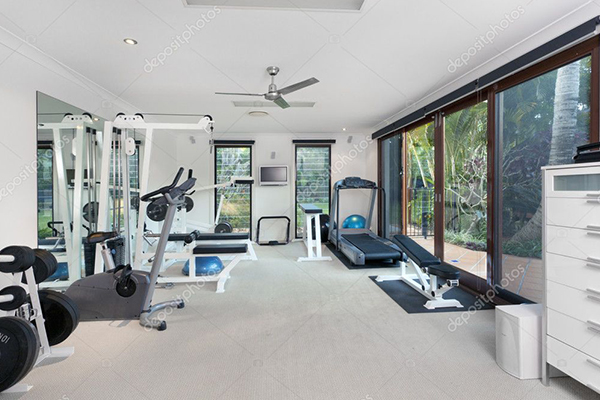 private gym in the garden